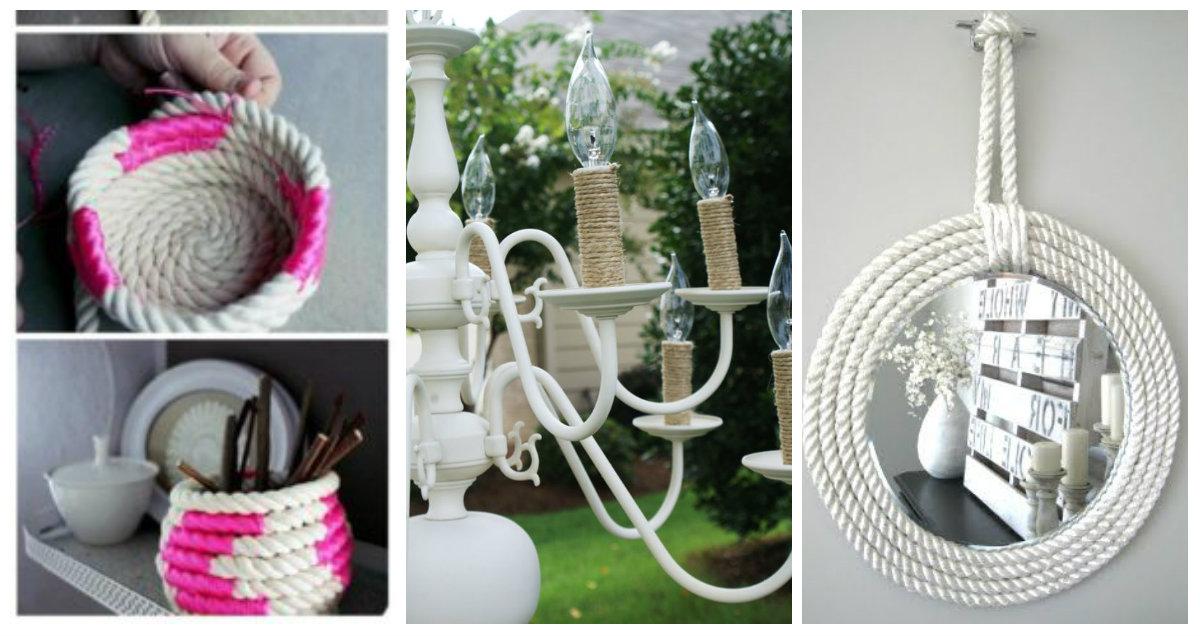 Idee stupende per decorare con la corda in stile Shabby Chic ...