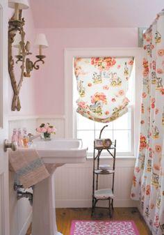 bagno tende fiori