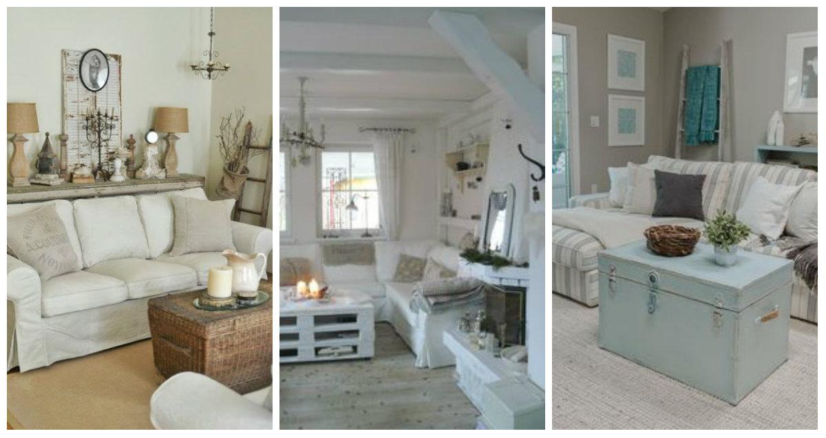 5 idee sostenibili per arredare il salotto in stile shabby for Idee per arredare il salotto