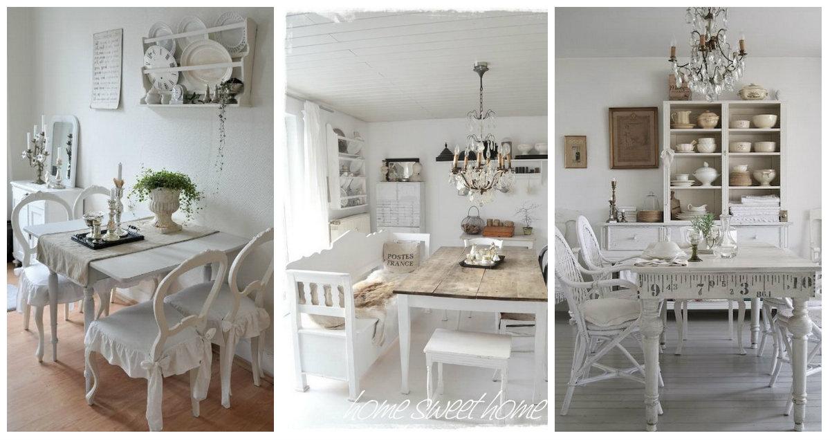 Finest sala da pranzo shabby chic ecco qualche idea di tendenza del che vi stupir arredamento - Stanze da pranzo ...