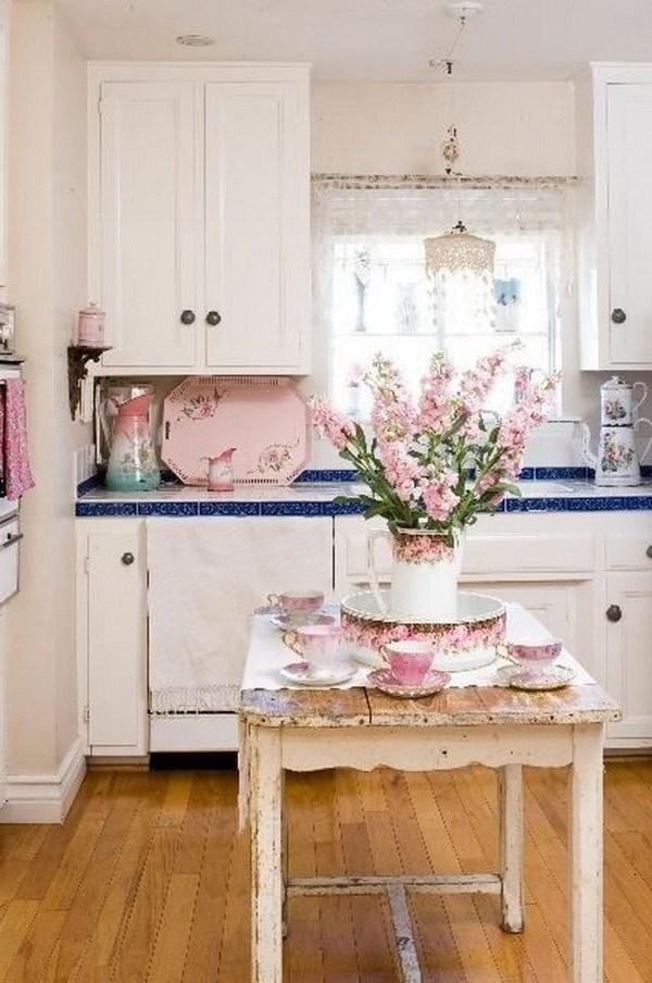 cucina rosa blu