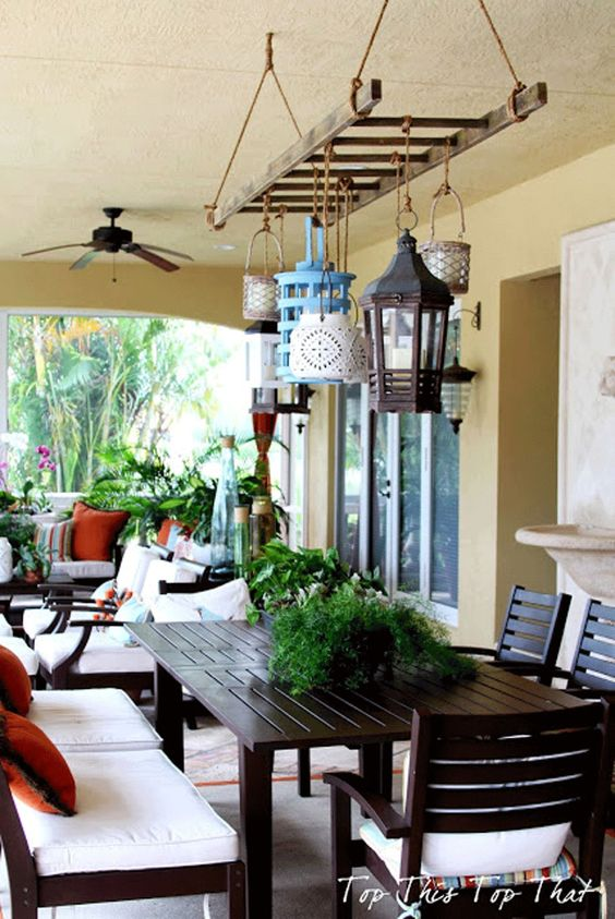 lanterne veranda scala