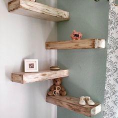 mensole legno decapato