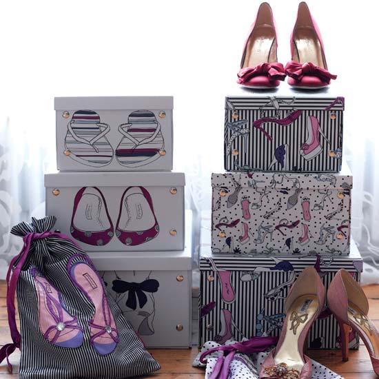 scatole scarpe shabby chic