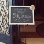 baby shower lavagna benvenuto