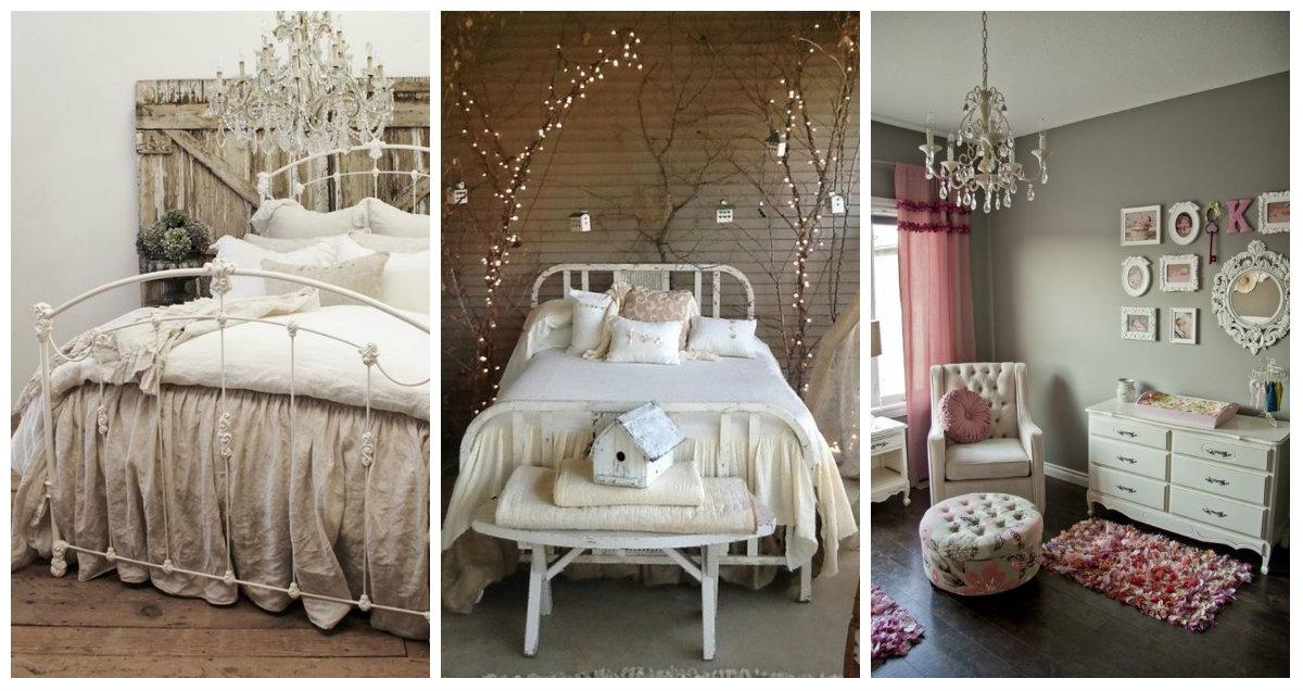 ... romantici nella camera da letto Shabby Chic - Arredamento Provenzale
