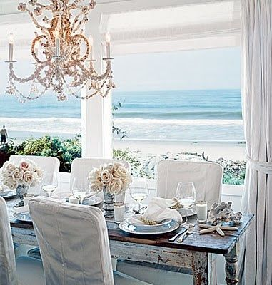 tavolo pranzo fiori mare