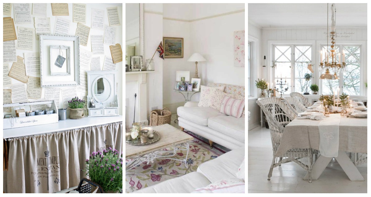 Arredare la casa in bianco idee shabby chic che vi for Arredare casa in bianco