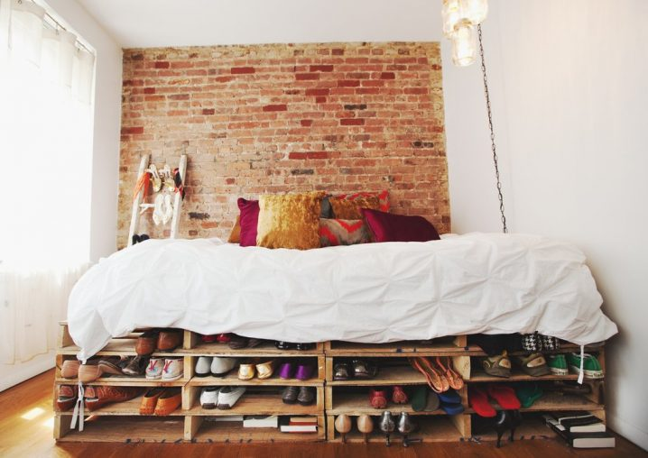letto pallet scarpe