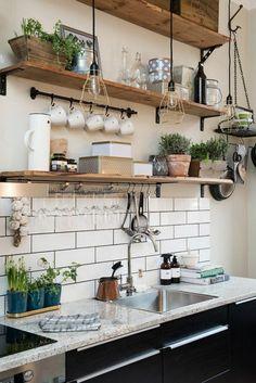 piante mensole cucina