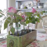rose centrotavola cucina