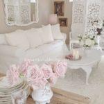 salotto bianco rose rosa