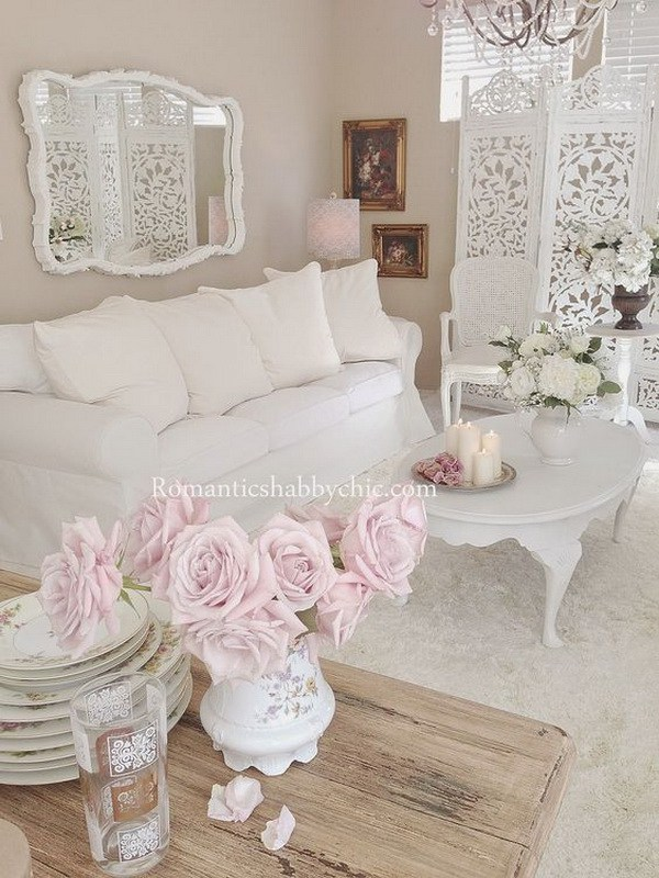 Salotto shabby chic idee romantiche di tendenza nel 2018 for Salotto shabby chic
