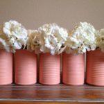 barattoli latta rosa fiori bianchi