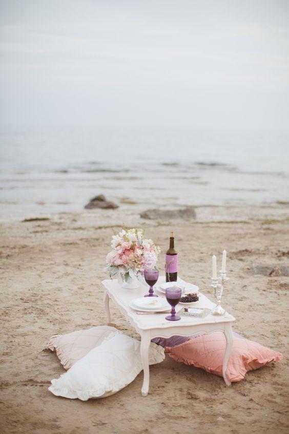 cena romantica mare