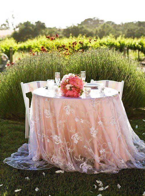 cena romantica outdoor