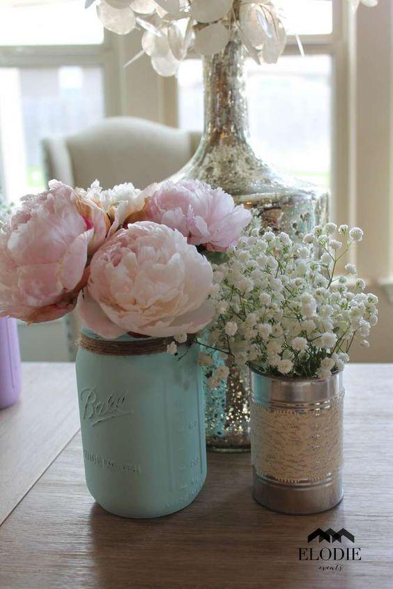 centrotavola fiori barattolo latta