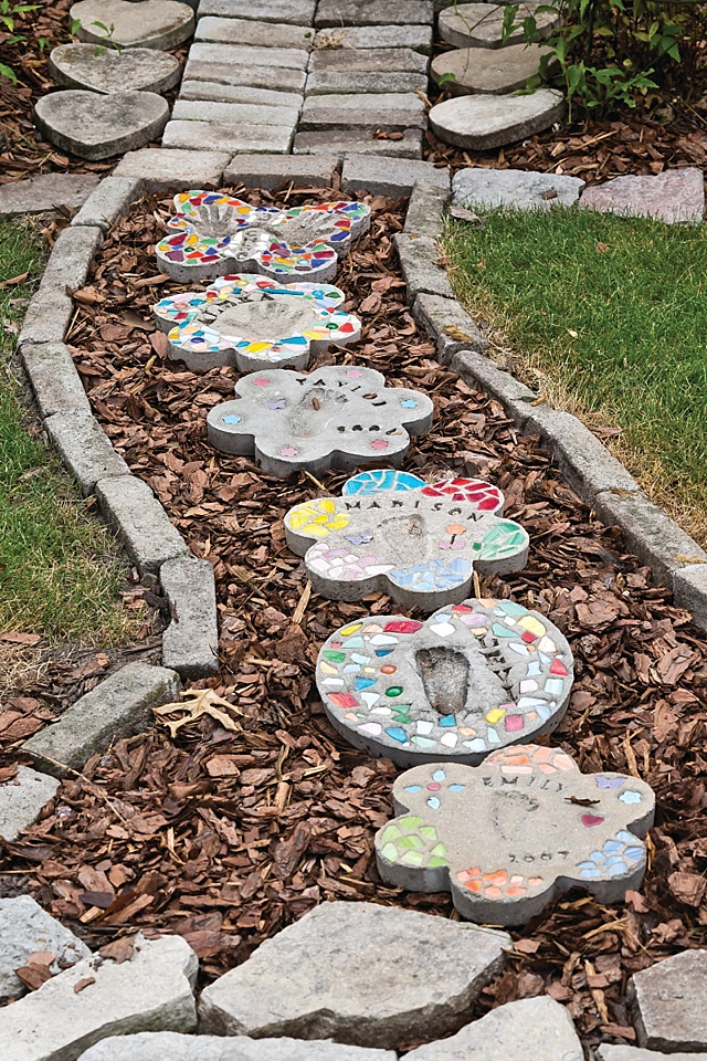 giardino pietre colorate