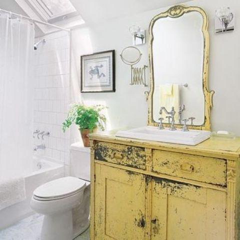 bagno mobile giallo