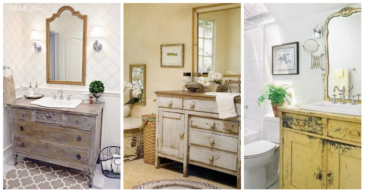 Idee vintage per il vostro bagno arredamento provenzale