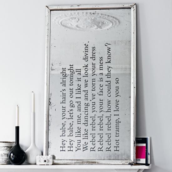 cornice scritta camino