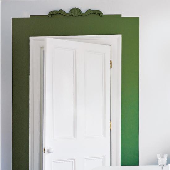 porta bianco verde