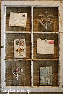 vecchie cartoline cuori