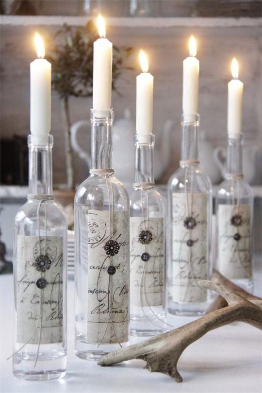 bottiglie candelabri