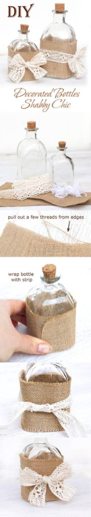 decorazione bottiglie tutorial