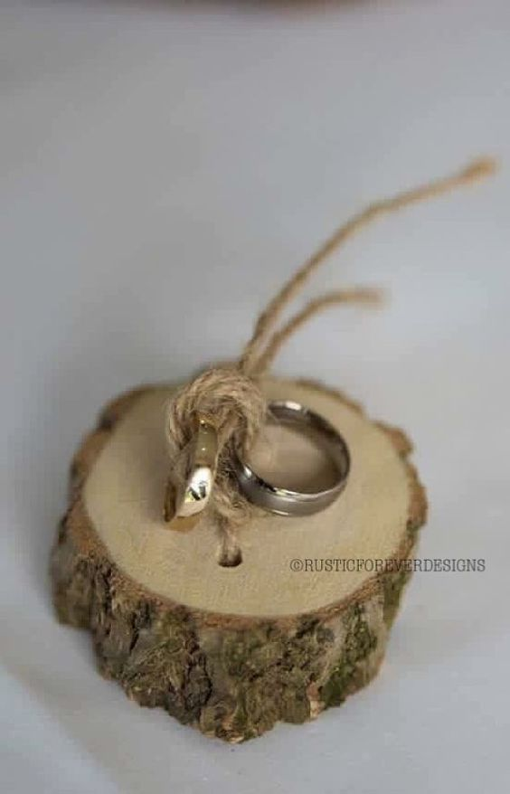 porta anelli legno
