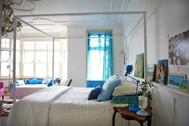 camera da letto dettagli blu