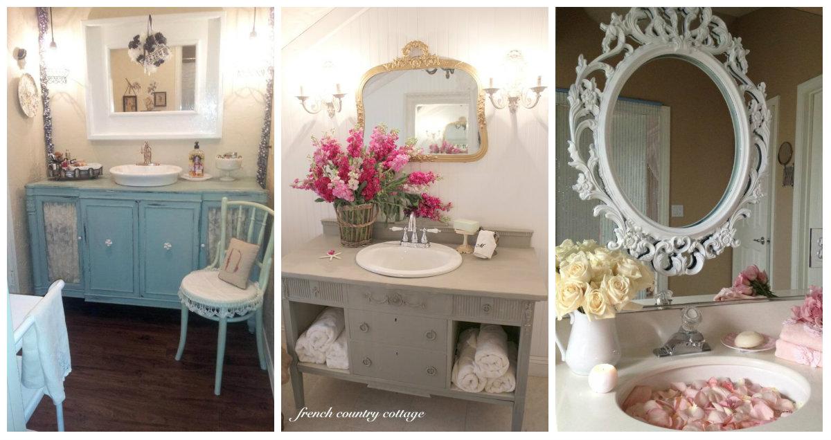 Specchio del bagno in stile shabby chic ecco qualche idea che vi conquister arredamento - Specchio bagno shabby ...