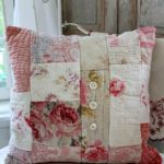 cuscino patchwork rosso