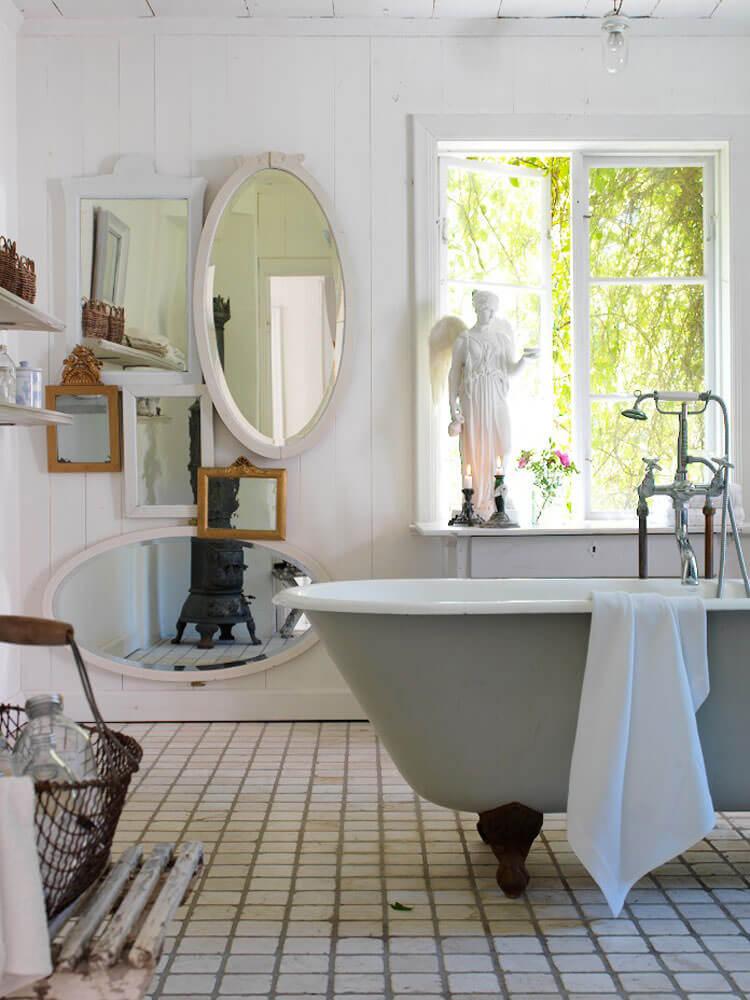 Specchio del bagno in stile shabby chic ecco qualche idea - Specchio provenzale ...