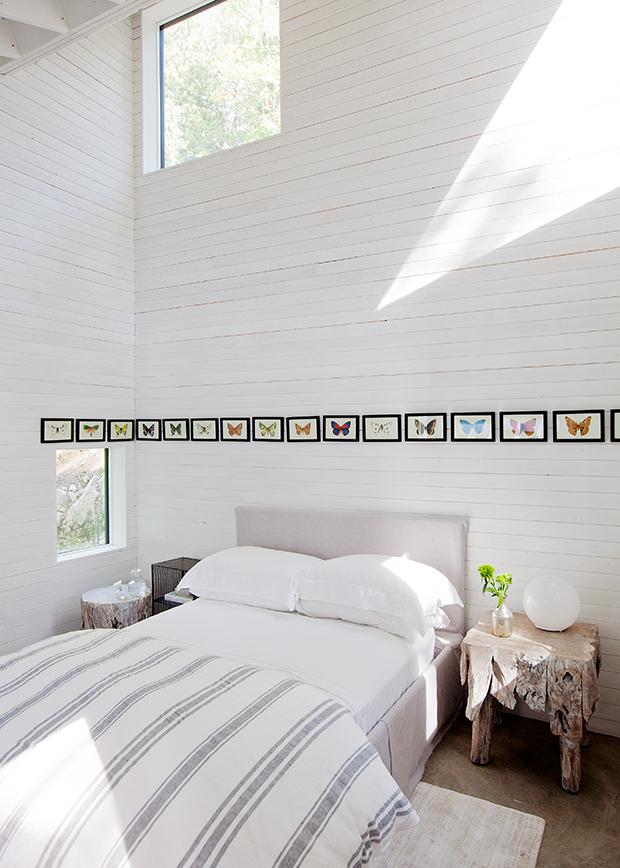 camera da letto bianca