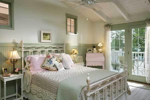 camera da letto verde pastello - Arredamento Provenzale