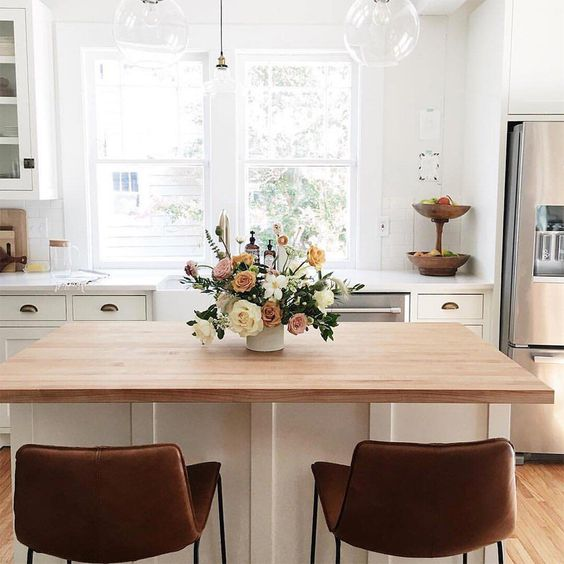 cucina centrotavola fiori
