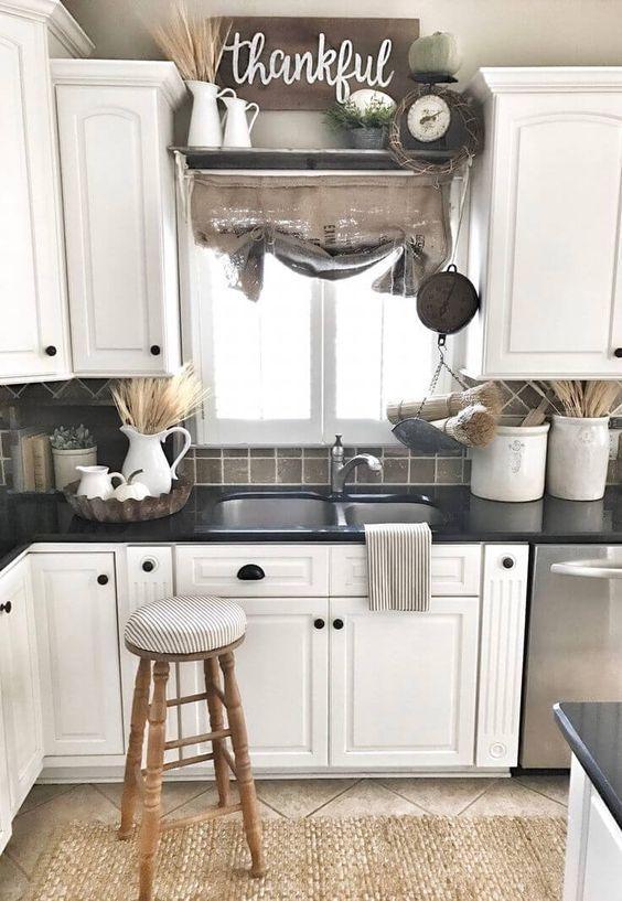 cucina grigia bianca