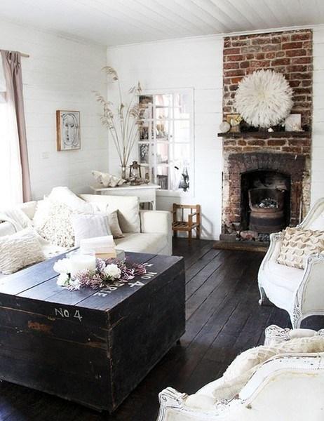 salotto legno bianco e scuro