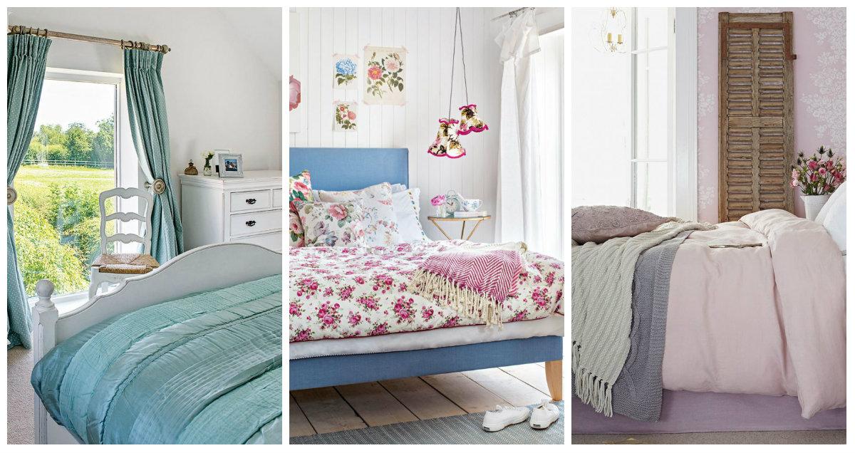 Camera da letto idee per un arredamento country - Arredamento provenzale camera da letto ...