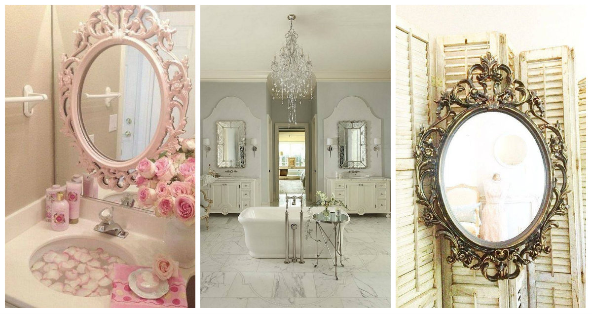 Specchi nel bagno shabby chic una gallery con 5 idee da capogiro arredamento provenzale - Specchio bagno shabby ...