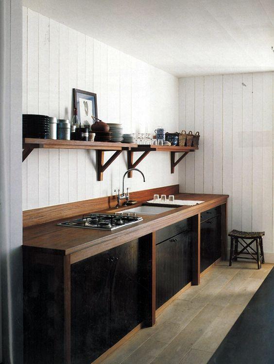 cucina legno nero