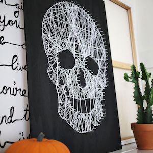 teschio fai da te halloween
