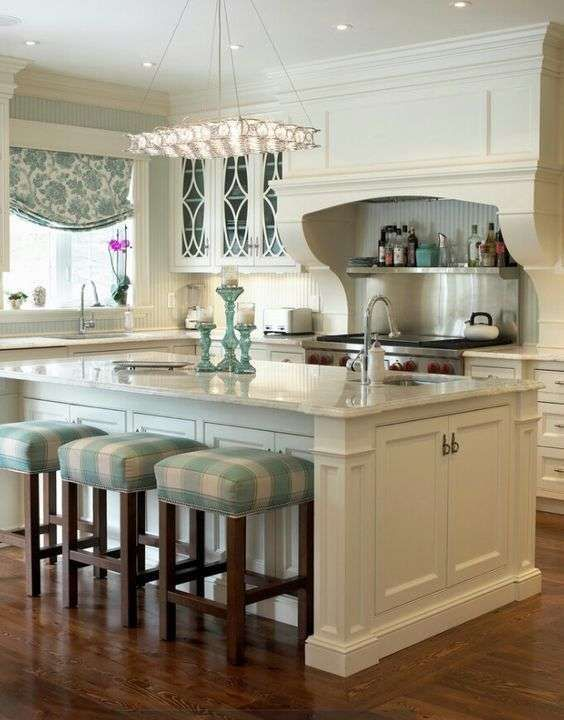 cucina isola country chic