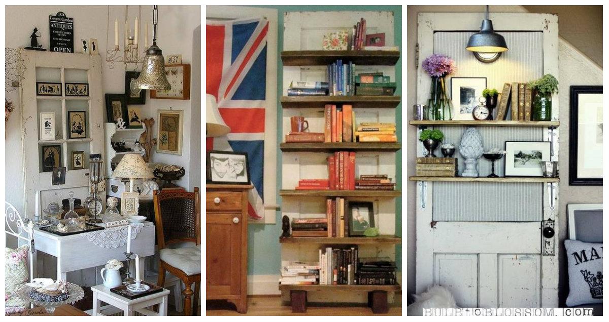 25 modi per riutilizzare e riciclare le porte in legno per scaffali e decorazioni per pareti - Decorazioni in legno per pareti ...