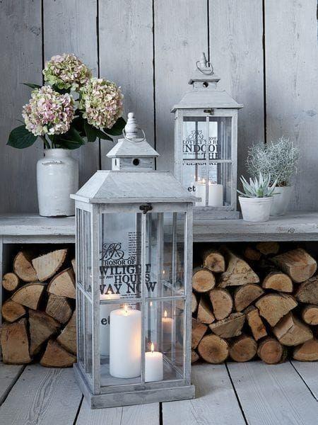 Illuminazione shabby chic 10 idee originali per lampade lampadari e illuminazione da giardino - Casa americana in legno ...